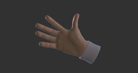 Cartoon Hands - animated 3D Model
