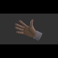 Cartoon Hands - animated 3D Model