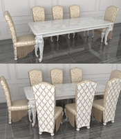 Classic Dining Set 3D Model