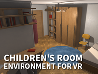 Children's room - environment for VR 3D Model