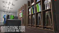 Clothing store - interior and props 3D Model