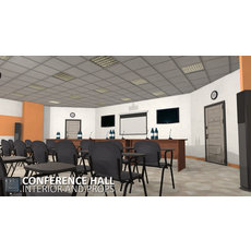 Conference hall - interior and props 3D Model