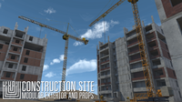 Construction site - modular exterior and props 3D Model