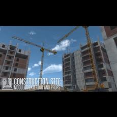 Construction site - modular exterior and props 3D Model