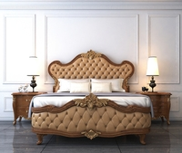 European Style Bed 3D Model