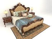 Classic Carved Bed 3D Model