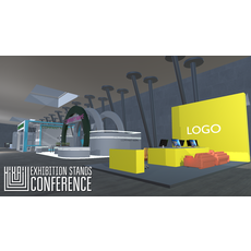 Exhibition stands - conference 3D Model