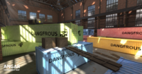 FPS Hangar - tournament map 3D Model