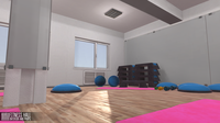 Fitness hall - interior and props 3D Model