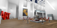 Gallery - Showroom Environment 3D Model