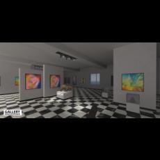 Gallery - modular interior 3D Model