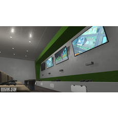 Game room - interior and props 3D Model
