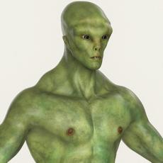 Realistic Male Alien 01 3D Model