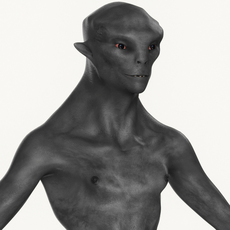 Realistic Male Alien 02 3D Model