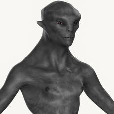 Realistic Male Alien 02 3D Model