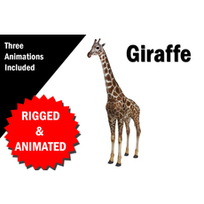 Giraffe Rigged and Animated VR / AR / low-poly 3D Model