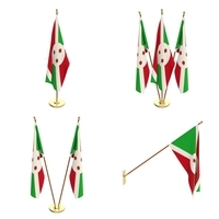 Burundi Flag Pack 3D Model