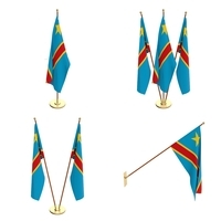 Democratic Republic of Congo Flag Pack 3D Model