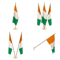 Ivory Coast Flag Pack 3D Model
