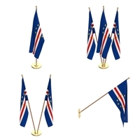 Cape Verde Flag Pack 3D Model