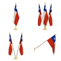 Chile Flag Pack 3D Model