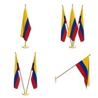 Colombia Flag Pack 3D Model