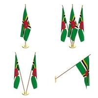 Dominica Flag Pack 3D Model