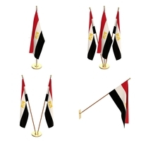 Egypt Flag Pack 3D Model