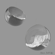 Hanging Bubble Chair 3D Model