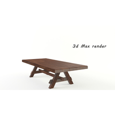Low-poly wood table 3D Model