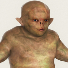 Realistic Male Alien 05 3D Model