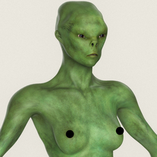 Realistic Female Alien 06 3D Model