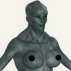 Realistic Female Alien 07 3D Model