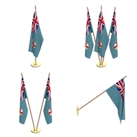 Fiji Flag Pack 3D Model