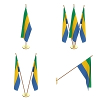 Gabon Flag Pack 3D Model
