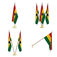 Ghana Flag Pack 3D Model