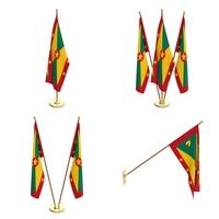 Grenada Flag Pack 3D Model