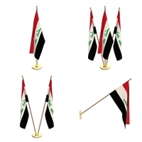Iraq Flag Pack 3D Model