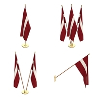 Latvia Flag Pack 3D Model