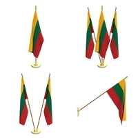 Lithuania Flag Pack 3D Model