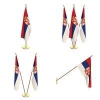 Serbia Flag Pack 3D Model