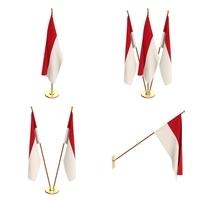 Indonesia Flag Pack 3D Model