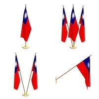 Taiwan Flag Pack 3D Model