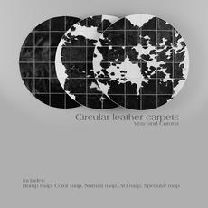 Carpet Pack 3 _ Circular Leather Carpets. 3D Model
