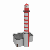 Light House East Mall 3D Model