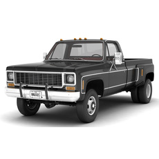 GENERIC 4WD DUALLY PICKUP TRUCK 8 3D Model