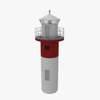 Light House Sodra Udde 3D Model