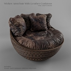 Wicker Arm Chair 3D Model