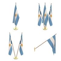 Argentina Flag Pack 3D Model