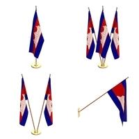 Cambodia Flag Pack 3D Model